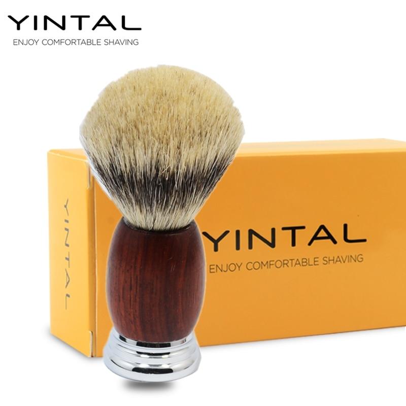 Natural Badger Hair Wood Handle Hand-made Badger Brushes Shave Tool Shaving Razor Brush цена