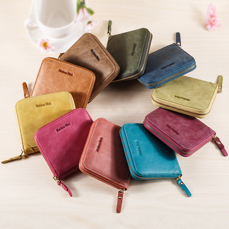 2018 Brand Hot Sale 10 Color Genuine Leather Unisex Card Holder Wallet Female Credit Card Holders Women Pillow Card holder Purse hot yuri on ice unisex name id business card holder wallets plisetsky yuri 28 bank credit card case holders card holder purse