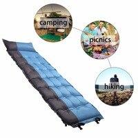 Comfortable Inflatable Air Mattress Pillow Folding Sleeping Bed Moistureproof Camping Travel Sleeping Air Bed