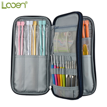 Looen Knitting Bag Empty Crochet Hook Bag Storage Pouch Knitting Kit Case Organizer Bag For Sewing Crochet Needles Scissors