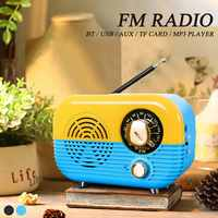 5W USB Mini Rechargeable Portable Retro Vintage 87 108Mhz FM Radio Support bluetooth AUX TF Card Speaker Music Player