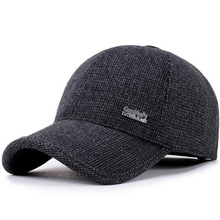 BING YUAN HAO XUAN New Arrival Winter Spring Autumn Sport Baseball Caps With Ears Warm Winter Hat for Men Golf Hat kenmont new arrival brand winter hat 100