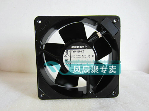 Original German papst TYP 4586Z 230V 12CM 12038 full metal temperature cooling fan original typ4112n 31hha 12038 forced air cooling fan