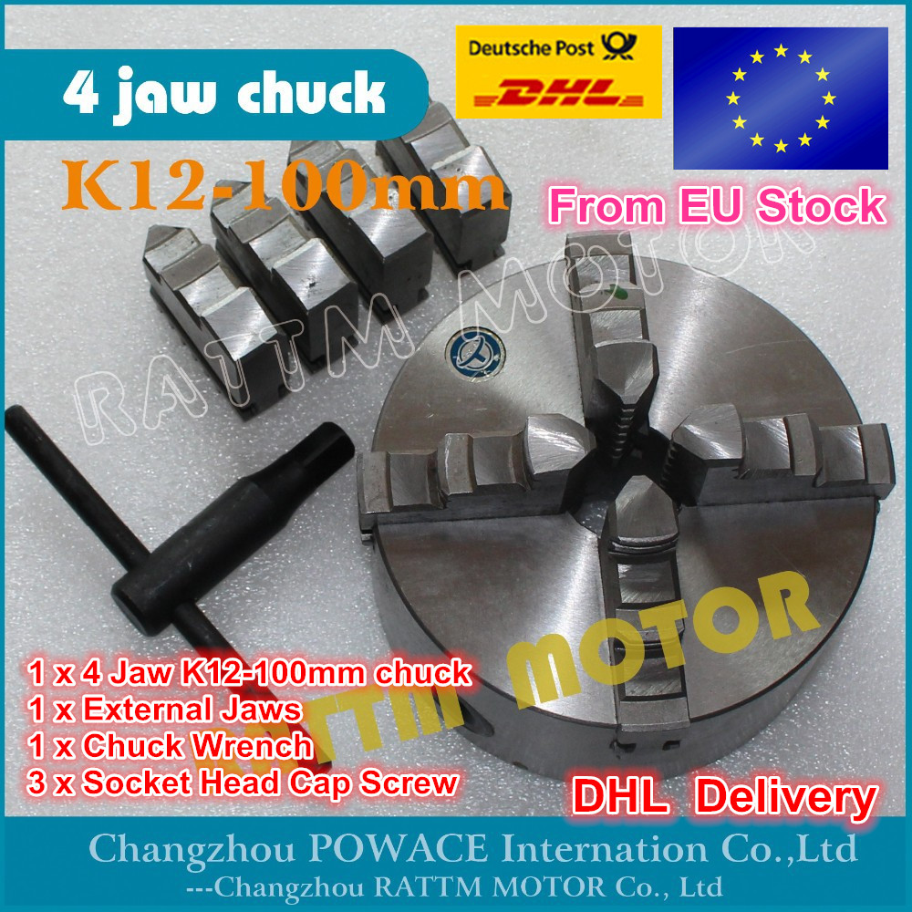 Manual chuck Four 4 jaw self-centering chuck K12-100mm 4 jaw chuck Machine tool Lathe chuck four 4 jaw self centering chuck k12 125mm 4 jaw chuck machine tool lathe chuck