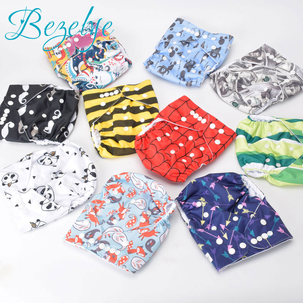 Bezelye Reusable Nappies Cover Waterproof Newborn Cloth Diaper 1PC Washable Training Pants Baby Reusable Nappy For Infant 2018