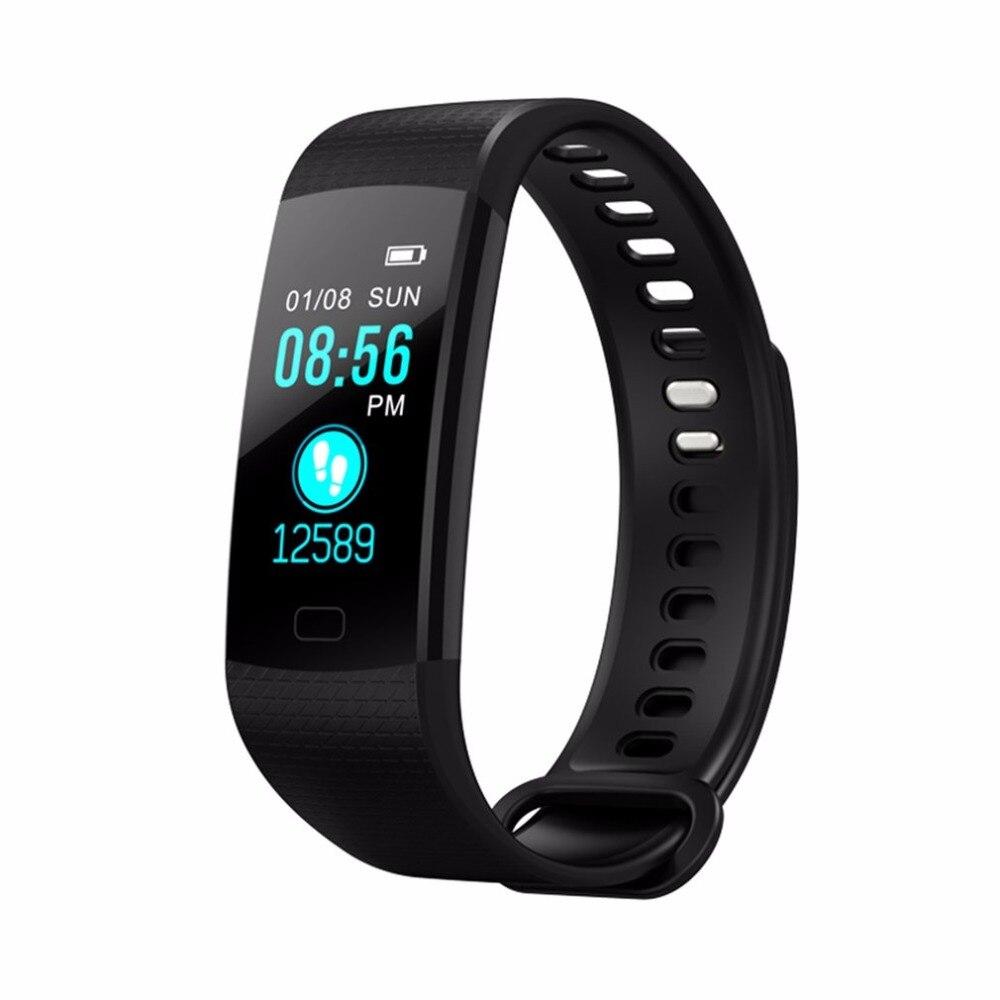Y5 Montre Intelligente de La Pression Artérielle Moniteur de Fréquence Cardiaque Podomètre Montre Smart Watch en temps Réel Vibrant Réveil Smartband pour Téléphone a43