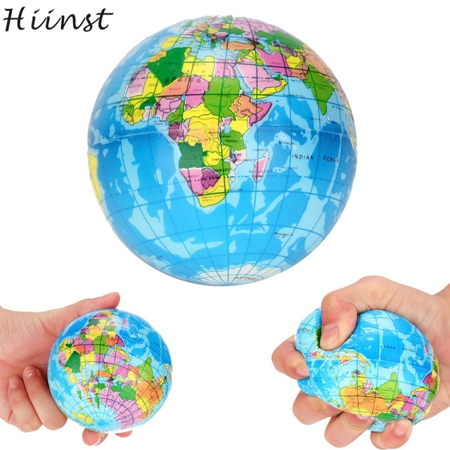 Hiinst funny creative 2018 stress relief world map decompression pu hiinst funny creative 2018 stress relief world map decompression pu foam ball atlas globe palm planet gumiabroncs Choice Image
