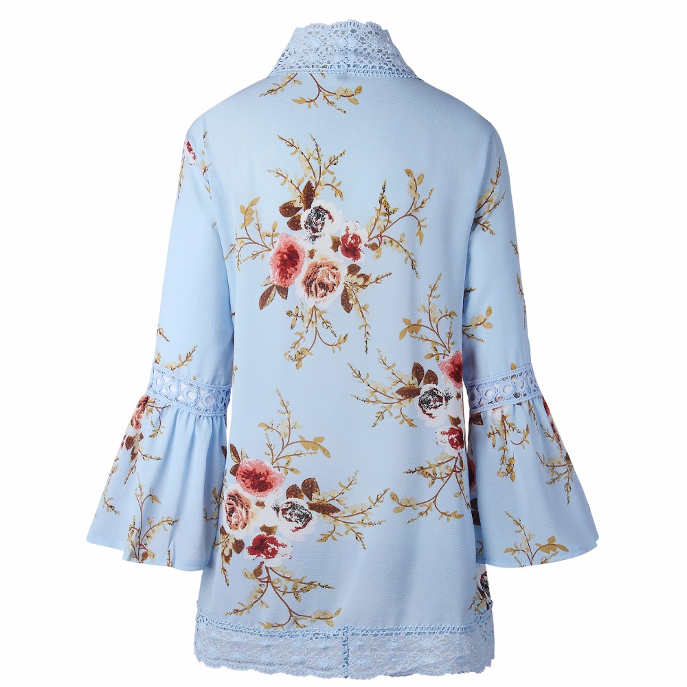 HTB11Emsjm8YBeNkSnb4q6yevFXa5 Autumn 2019 Boho Women Jacket Lace Flare Long Sleeve Slim Casual Open Stitch Tops Fashion Women Clothes Spring Shirt Coat Jacket