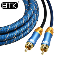 RCA Stereo Cable/Cord Top Grade Dual 2 RCA Male to 2RCA Male Audio Cable,Digital&Analog,Double Shielded,PRO Series) for AV Hi Fi