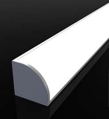 3.3ft / 1M V- شکل منحنی پوشش داخلی پهنای داخلی 12 میلی متر گوشه نصب چراغ آلومینیوم LED در زیر چراغ های ضد کابینت