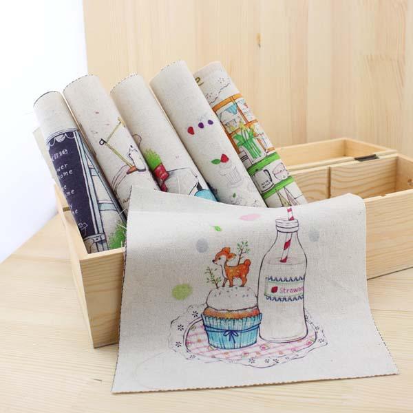 La buena vida dibujos animados DIY fieltro de algodón telas muñecas ...