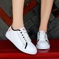 Женские кроссовки Vogue  Белые Повседневные кроссовки на платформе из искусственной кожи на шнурках  весенние теннисные туфли