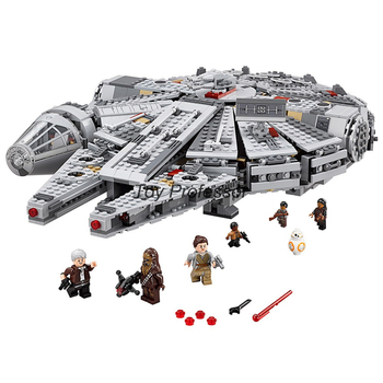 2016 Lepin Star Wars Millennium Falcon Outer Space Space Ship Building Blocks Model Toys Christmas Gift for Children Legoed