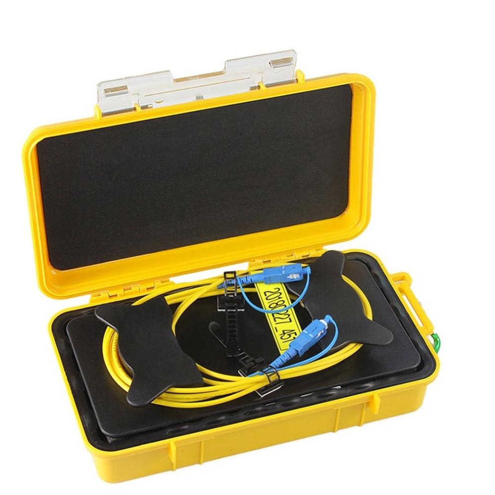SC/UPC Профессиональный одиночный режим 2000 м OTDR пусковой кабель коробка кольцо с плетением OTDR Запуск волоконно-оптический кабель
