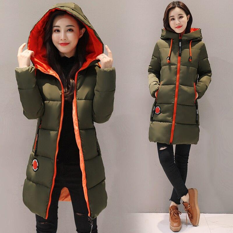 2019 Winter Cotton jacket Women Parkas New Thick Warm Hooded Student Coat Plus size Fashion Female Long Cotton-padded jacket 3XL