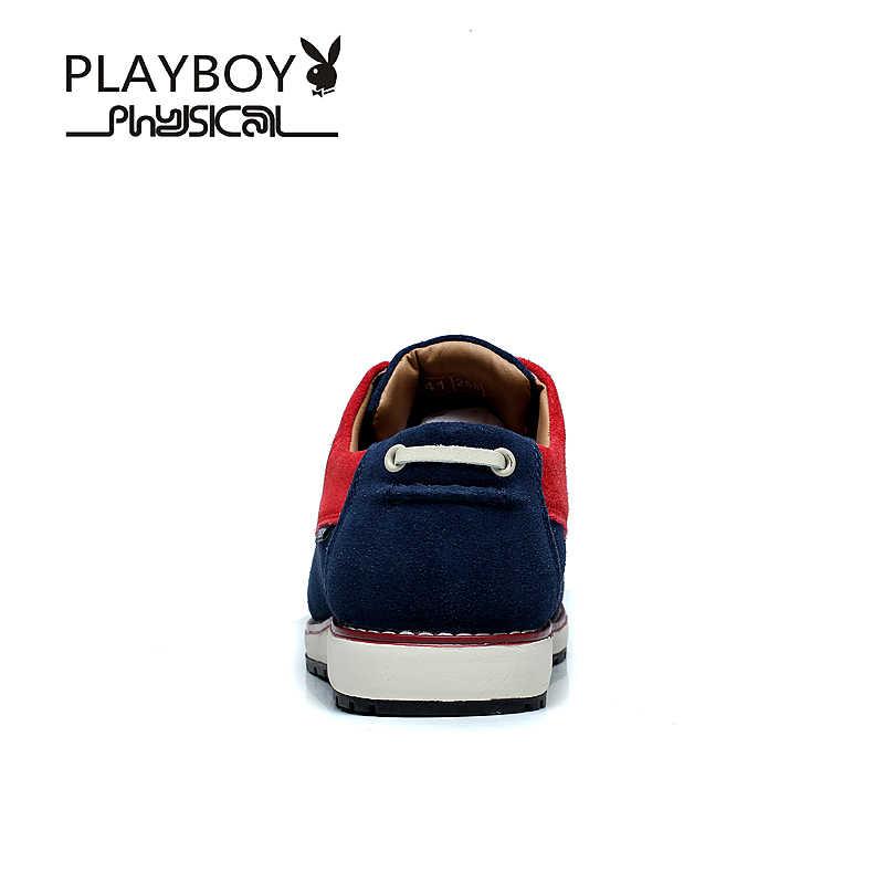 63fb537f33f ... Playboy 2017 британский стиль мода Пояса из натуральной кожи  повседневная обувь мужские водонепроницаемые Мокасины удобные Туфли ...