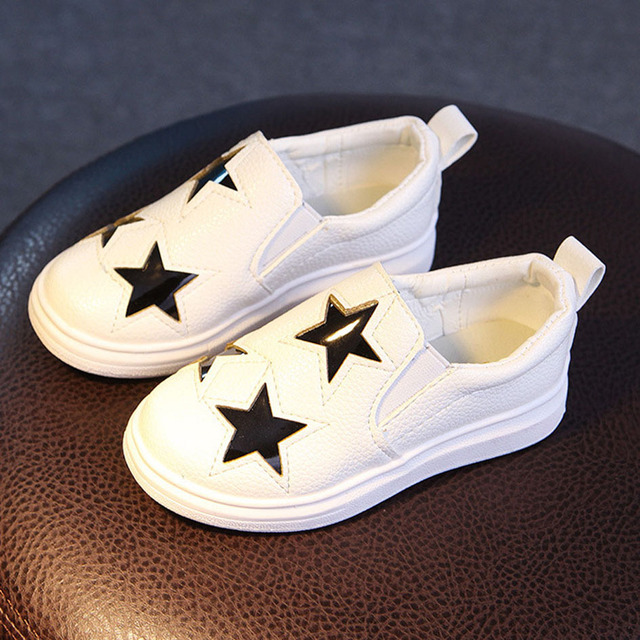 Baby Starts Casual Shoes 2017 Spring Toddlers Boys Loafers Kids Girls Leisure Shoes  Infant Walkers Shoes Stars Baby Sneakers