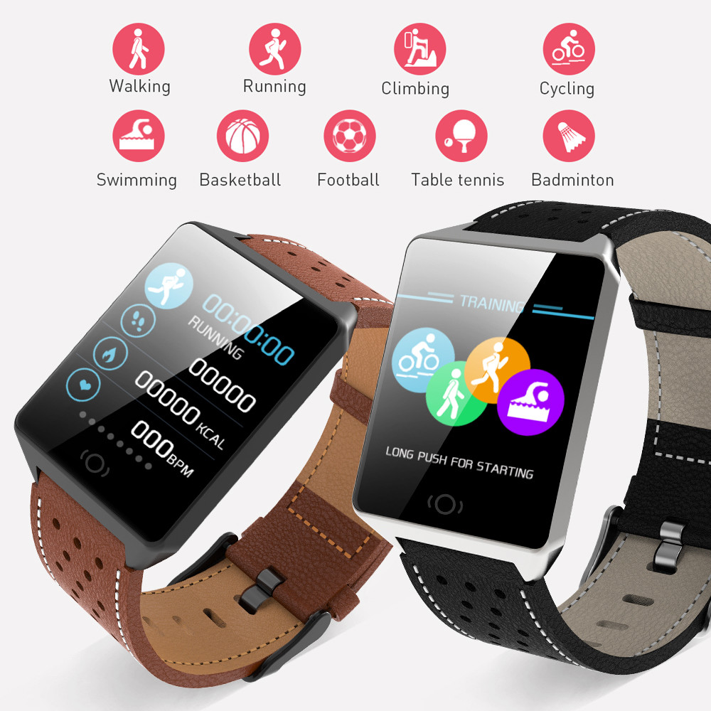 JQAIQ Color Display women Smart Watch Waterproof Men Smart Watch Bluetooth Pedometer Heart Rate Monitor Fashion