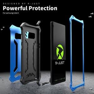 Image 2 - Чехол для Samsung Galaxy Note 10 Plus, металлический алюминиевый силиконовый сверхпрочный защитный чехол для Samsung Note 9, роскошный армированный чехол