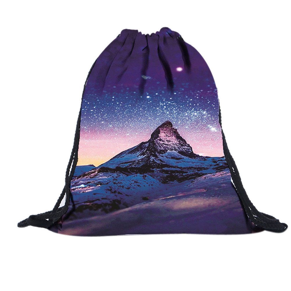 Starry Sky 3D Printed Drawstring Bags Fashion Teenager Girls Boys Shoulder Backpack Cool Travel Storage Bags mochila escolar рюкзак 2015 mochila sky 015
