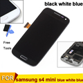 For Samsung Galaxy S4 Mini i9195 i9190 i9192 LCD display touch screen assembly with frame black white blue