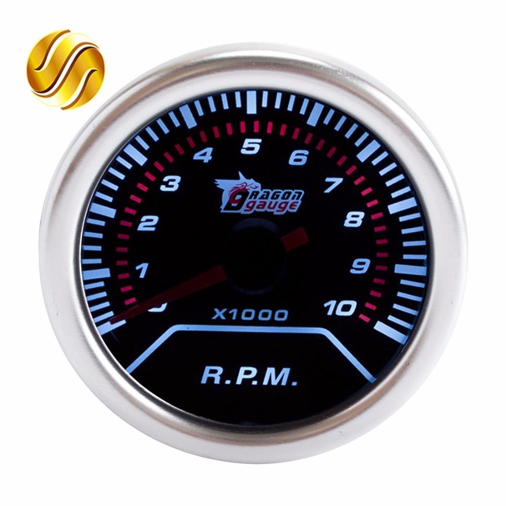 Mechanical Tachometer With Hour Meter Gauge : Dragon gauge tachometer car quot mm rpm