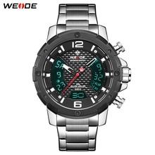 WEIDE Men Watch Tops Brand Luxury Bussiness Automatic Date Quartz Movement Analog Clock Wristwatches Relogio Masculino Men Watch