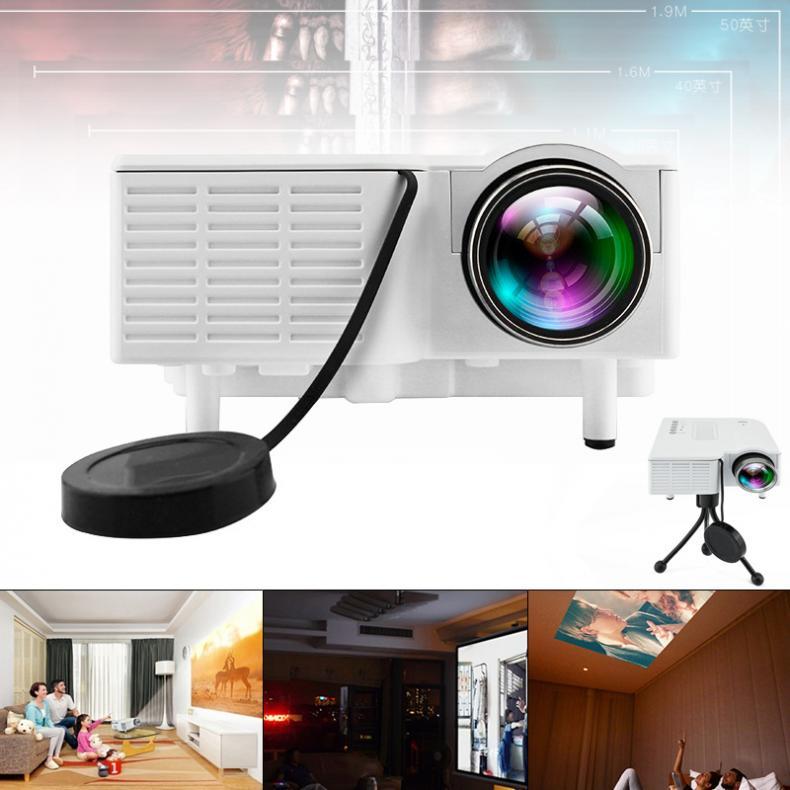 UC28 universel 400 Lumens HD 400 Lumens multimédia LED Homehold projecteur Support 80 pouces grand écran Projection