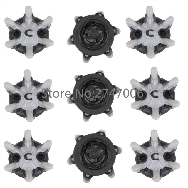 28pcs/Pack Grey & Black Golf Shoes Spikes TRI-LOK Replacement Golf Accessories Free Shipping