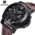 New 2016 Automatic Self-Wind Perpetual Calendar Mens Watch Brand Military Sport Watch Relogio Masculino Leather Mechanical Watch