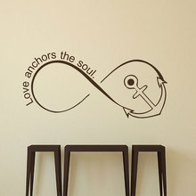 Wall Decals Infinity Symbol Decal Love Anchors The Soul Quote Anchor Vinyl Stickers Home Decor Bedroom Murals LV18