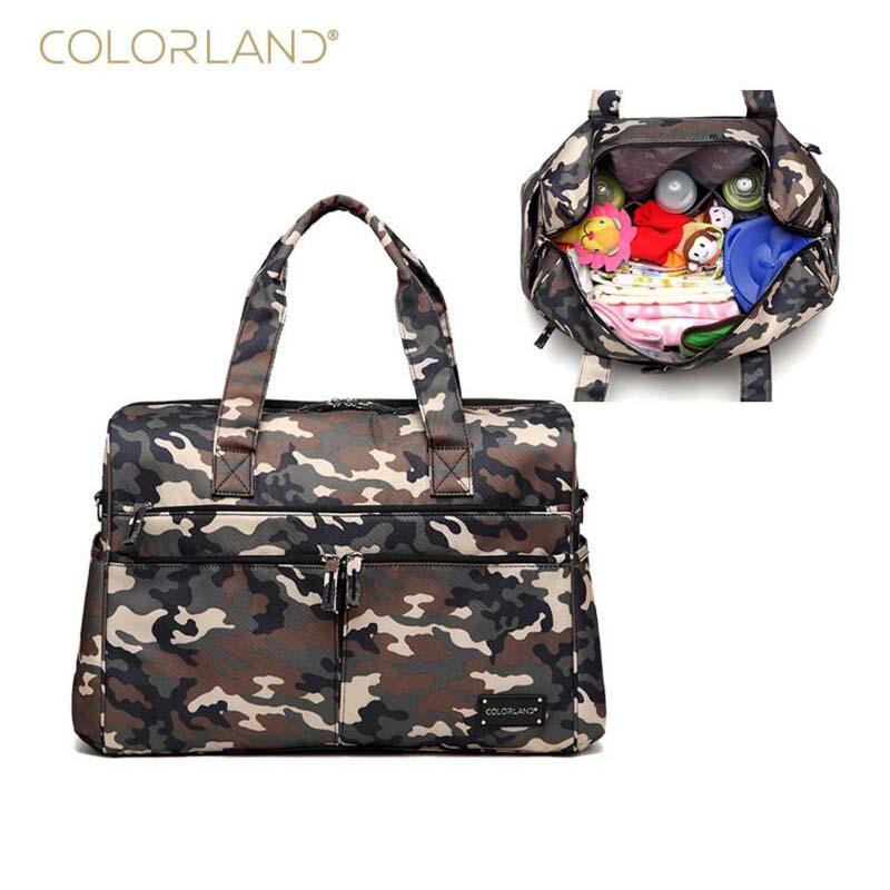 Colorland brand diaper bag storage camouflage large baby care mother Messenger handbag pregnant women