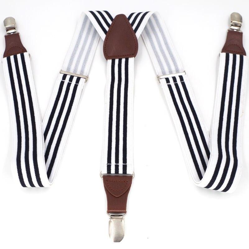 2017 Mens Suspenders Retro Braces 3clips Leather Suspenders AdjustableBelt Strap Suspensorio Tirantes High Quality