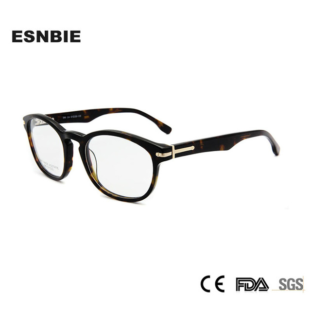 a49a0a47768 ESNBIE Original Quality Eyeglasses Women Italy Design Vintage Round  Eyeglass Frames Men Clear Lens Retro Spectacle