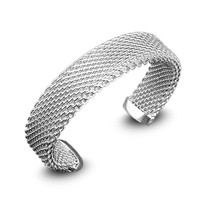 LUKENI Hot Double Layers Silver Women Bangles Jewelry Trendy 925 Silver Bracelets Bangles For Girl Party Accessories Adjustable