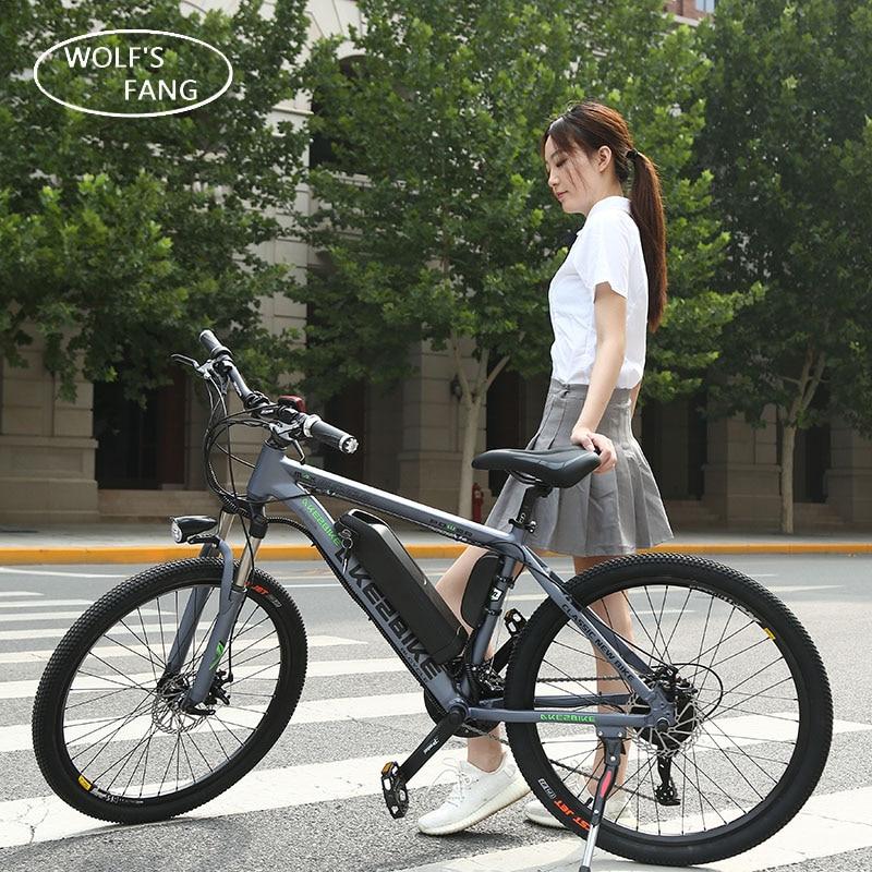 Bicicletta elettrica 36 v 350 w 26 pollice In lega di Alluminio batteria al litio 27 velocità Mountain Bike MTB Libera Il Trasporto Senza Spazzola motore
