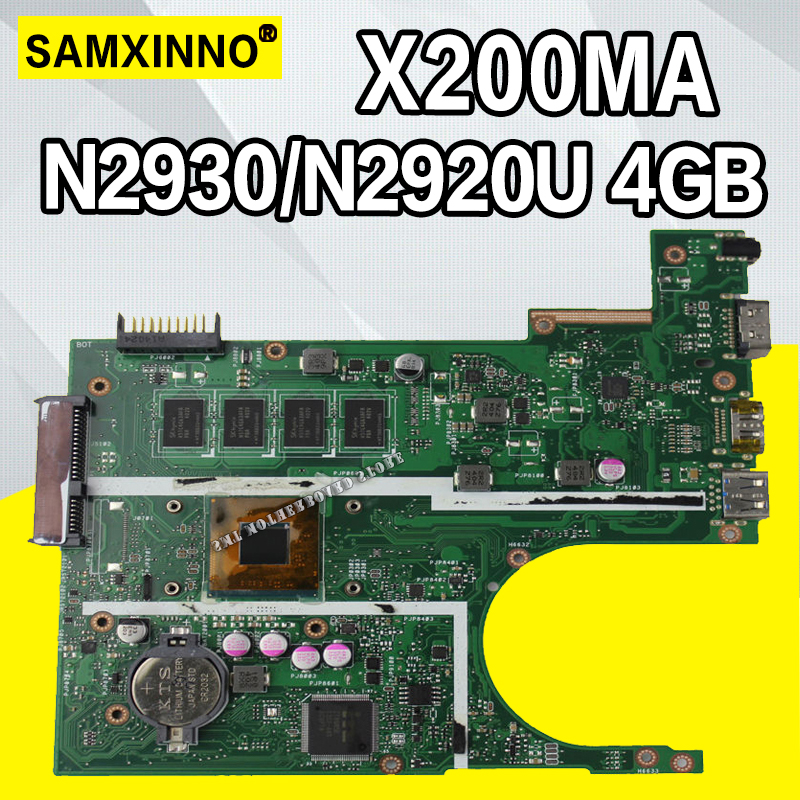 X200MA Motherboard REV2.1 For ASUS F200M X200M X200MA Laptop motherboard Mainboard N2930 N2920 4GB  4 coresX200MA Motherboard REV2.1 For ASUS F200M X200M X200MA Laptop motherboard Mainboard N2930 N2920 4GB  4 cores