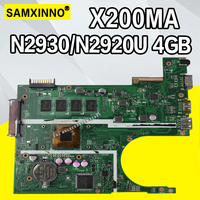 X200MA Motherboard REV2.1 For ASUS F200M X200M X200MA Laptop motherboard Mainboard N2930 N2920 4GB 4 cores