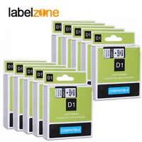 10 Pcs 9mm Schwarz auf weiß 40913 label bänder kompatibel dymo d1 label drucker band kassette für dymo label manager 160 280
