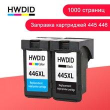 HWDID PG-445 CL-446 llenar cartucho de tinta Canon pg445 pg 445 cl446 para PIXMA MX494 MG2440 2540 2940 MX494 2840