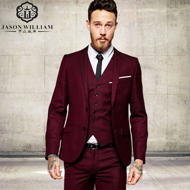 LN205 2018 Men Suit Wedding Suits Groom Formal Suit Two Buttons ...