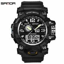 2c447dd8ffc Sanda Wathces LED Digital À Prova D  Água G Estilo Relógios Desportivos  Homens Moda Ao
