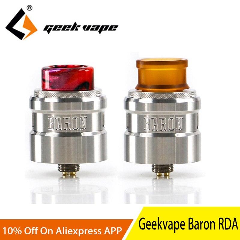2 pièces Geekvape Baron Squonk RDA système de flux d'air multifonctionnel 24mm RDA vs DROP RDA atomiseur réservoir pour e cigarette mod