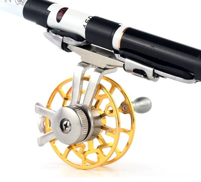 Small full metal line wheels for ice fishing or front fishing also suitable for change hand rod to catch big fish