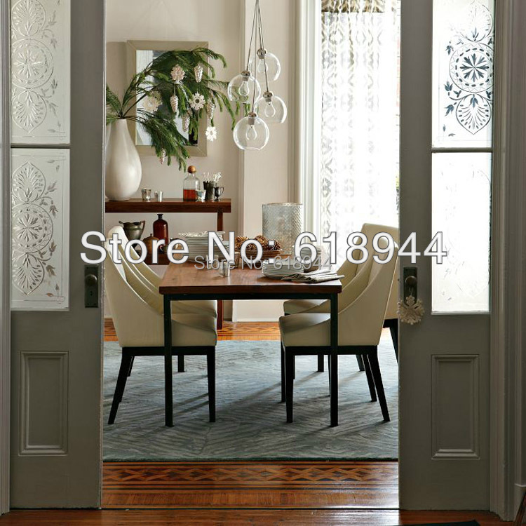 single head 4heads modern brief clear glass pendant lights hanging lamp round dining. Interior Design Ideas. Home Design Ideas