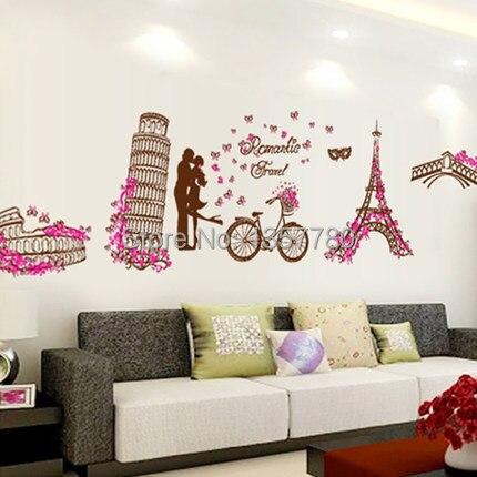 European romantische landschap eiffeltoren slaapkamer woonkamer tv ...