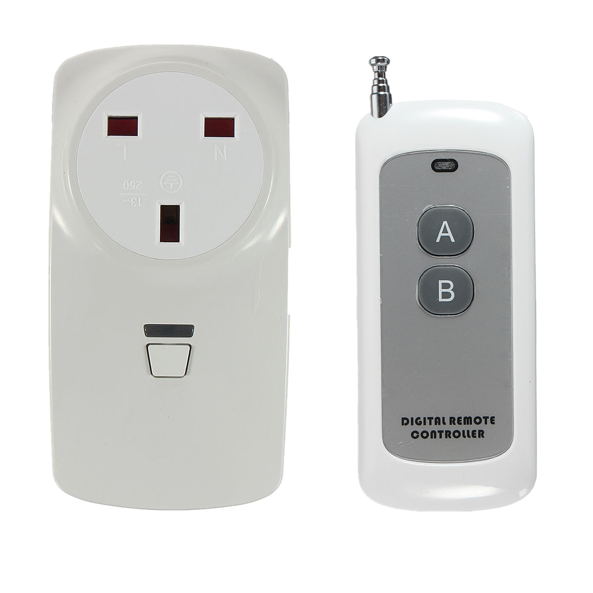 NEW Safurance Wireless Plug-In Power Socket Timer Switch Outlet Receiver With Remote Control Building Automation 3 pack wireless remote control power outlet switch plug socket infrared heater panel wireless socket