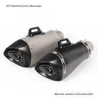 Modified Motorcycle Exhaust Muffler Tip Pipe With Removable DB Killer For 38-51mm Real Carbon Fiber Silencer System