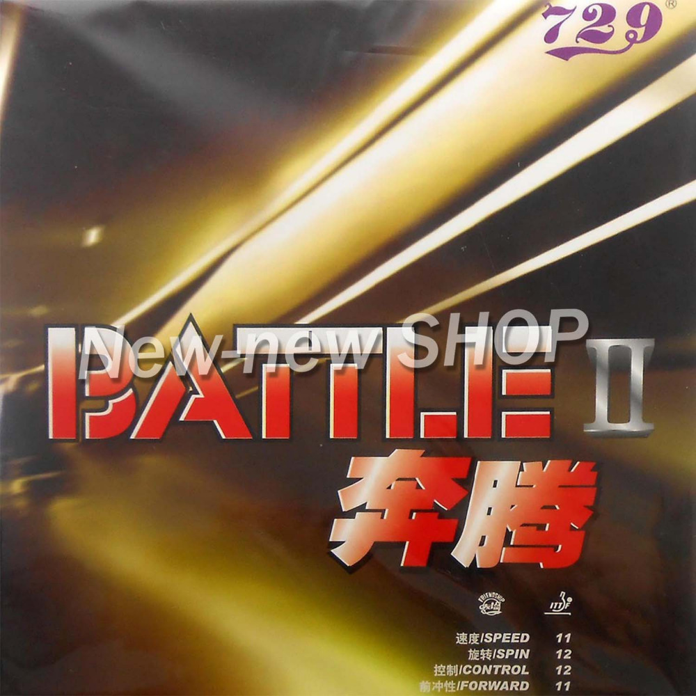 729 BATTLE II (BATTLE 2, BATTLE2) Tacky Pips-In Table Tennis (Ping Pong) Rubber with Sponge 2 натуральная кожа лоскут rongyao ping пластина белый