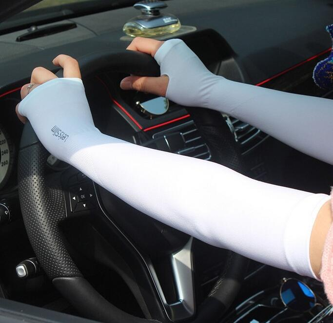 Summer Fingerless Gloves Slip On Sleeves Sleeves For Arms Unisex Two Piece